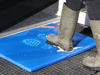 Sweetmat disinfectant mats